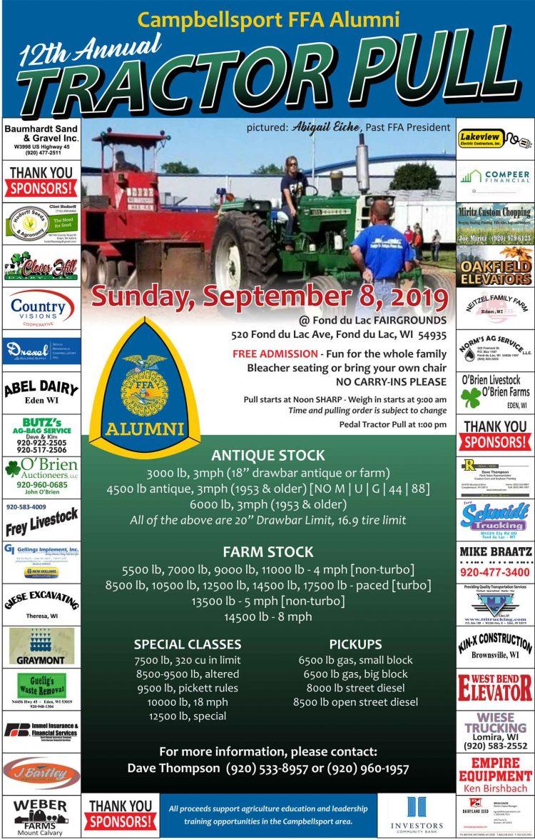 Campbellsport FFA Tractor Pull - Wisconsin Free Press