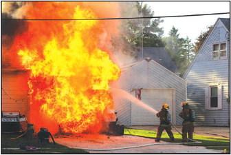 No Injuries Following Home Garage Fire Near Discher Park