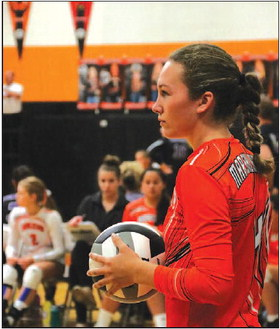 Three Marshladies Take Home Trailways East  Conference Hardware For Volleyball