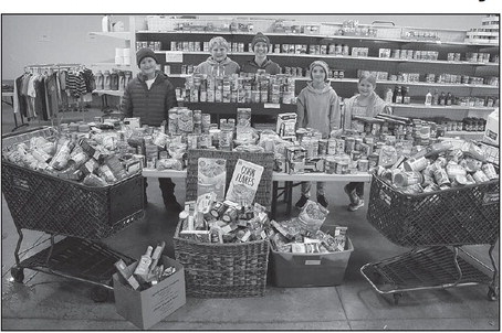 Youth Collect 1,260 Pounds Of Food For Pantry