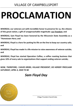 Village Declares Sam Floyd Day