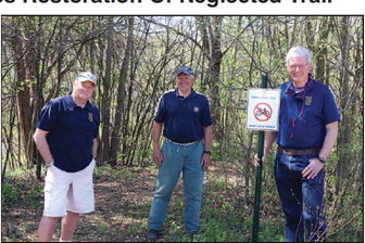 Rotary Club Of Mayville Completes Restoration Of Neglected Trail
