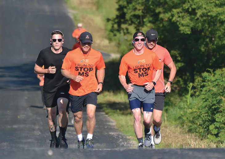 Costello And  Friends Run To  Raise Money For MS  Awareness