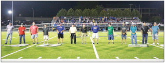Military Personnel Recognized At Kewaskum Campbellsport Football Game